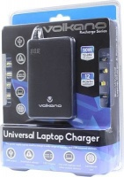 volkano recharge universal slim laptop charger 90w black laptop battery charger