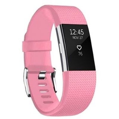 Linxure Silicone Strap for the Fitbit Charge 2 Light Pink Small
