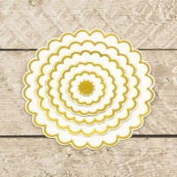 modern essentials cut foil and emboss die nesting scalloped craft supply