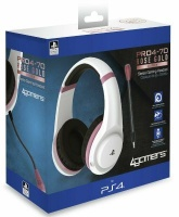 4gamers ps4 rose gold edition stereo gaming headset for ps4 accessory