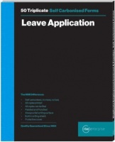 rbe a5 leave application triplicate book of 2 other