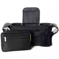 JuniorFx Baby Stroller Black Organiser Bag
