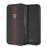 Ferrari Pu Leather Flip Case iPhone XR Black