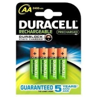 duracell rechargeable precharged aa batteries with accessory