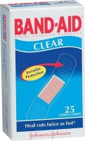 band aid clear strips 25s health product