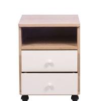 kaio turnin 2 drawer and shelf bedside table living room furniture