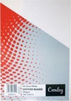 croxley a4 binding board 250gsm 100 pack gloss white school supply