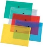 croxley a4 envelope with button 12 pack clear school supply