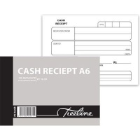 treeline duplicate pen carbon cash receipt book a6l of 10 other