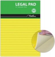 treeline legal yellow bond paper pad a4 80 sheets of 10 other