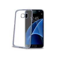 celly laser shell case for galaxy s7 silver