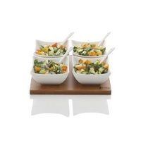 maxwell williams white basics bamboo salsa set 9 piece water coolers filter