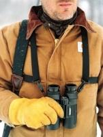 bushnell binocular shoulder harness with multi lingual clam camera filter