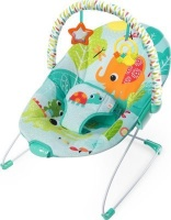 bright starts vibrating bouncer raindrop rainforest pram stroller