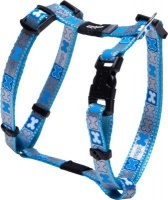 rogz pupz reflecto reflective puppy h harness blue bones dog