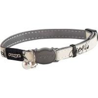 rogz glowcat reflective glow in the dark safeloc breakaway collars leash