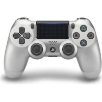 sony new playstation dualshock 4 v2 controller silver ps4 accessory