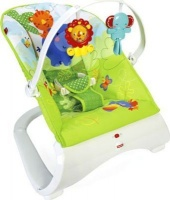 fisher price rainforest friends comfort curve bouncer pram stroller
