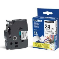 brother tz 251 p touch laminated tape black on white labeling system