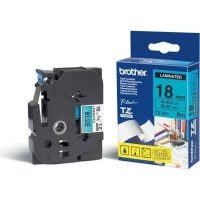 brother tz 541 p touch laminated tape black on blue labeling system