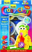bostik crazy clay red yellow blue white purple black 6 x school supply