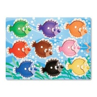 melissa and doug peg puzzles colourful fish 9 pieces learning toy