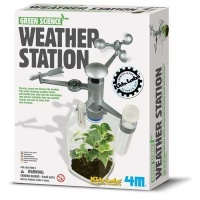 4m green science weather station learning toy