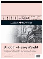 daler rowney a3 heavyweight cartridge gummed pad 220gsm 25 art supply
