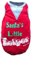 dogs life santas little helper tee red extra small clothe
