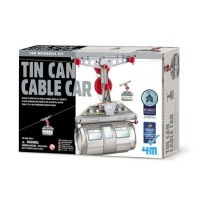 4m kidz labs tin can cable car learning toy