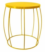 fundi living barrel side table yellow made to order living room furniture