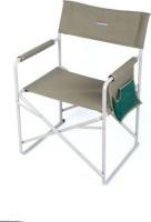 bushtec steel directors chair with side pocket 200kg camping