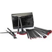 make up brush set 26 piece snakeskin black cosmetics makeup