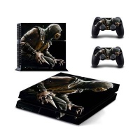 skin nit decal for ps4 mortal kombat x scorpion3 ps4 accessory