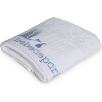 bebedeparis baby towel 45x 92cm medium white and blue bath potty