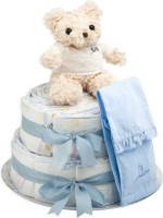 bebedeparis chic nappy cake size 2 3 6kg blue bag