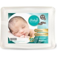babys naturally disposable nappies m 4 9kg 20 pack bag