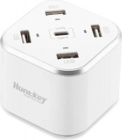 huntkey sca 507 smart c charger white camera filter