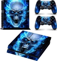 skin nit decal for ps4 blue skull ps4 console