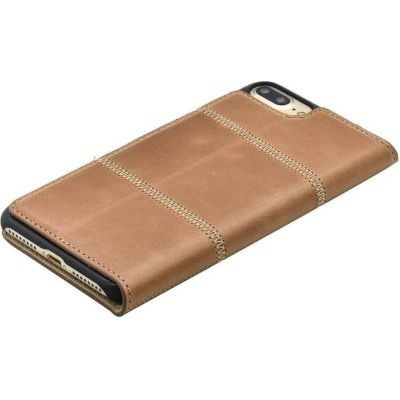 Photo of Tellur Book Case Magnetic Genuine Leather Patch for iPhone 6/6s Plus Brown