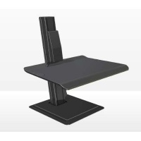 north bayou bt15 sit and stand workstation for pc accessory