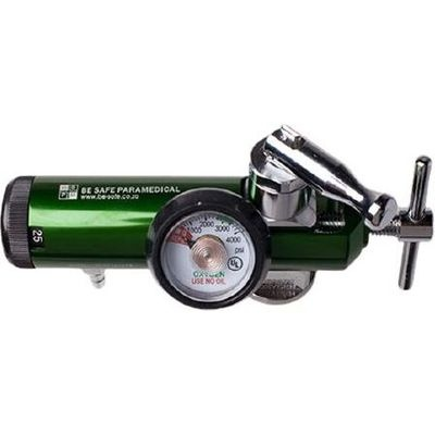 Photo of Be Safe Paramedical Pin-Index Oxygen Regulator with Dial-a-Flow