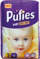 puffies premium diaper size 3 nappy changing