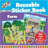 galt toys reusable sticker book farm craft supply