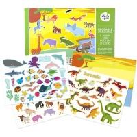 jarmelo re usable sticker pad set animal world art supply