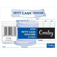 croxley jd584 petty cash voucher 36 forms 50 other