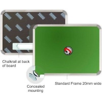 parrot magnetic chalk board 600mm x 450mm office machine