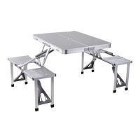 eco aluminium folding picnic table and chairs camping