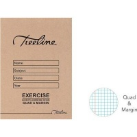 treeline quad margin exercise book a5 80pages of 20 other