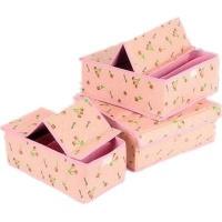 Hard Cover Underwear Storage Box Cherry